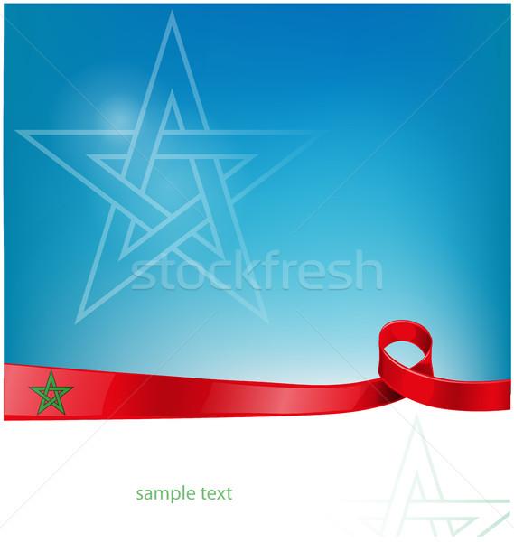 Zászló absztrakt művészet csapat piros Afrika Stock fotó © doomko