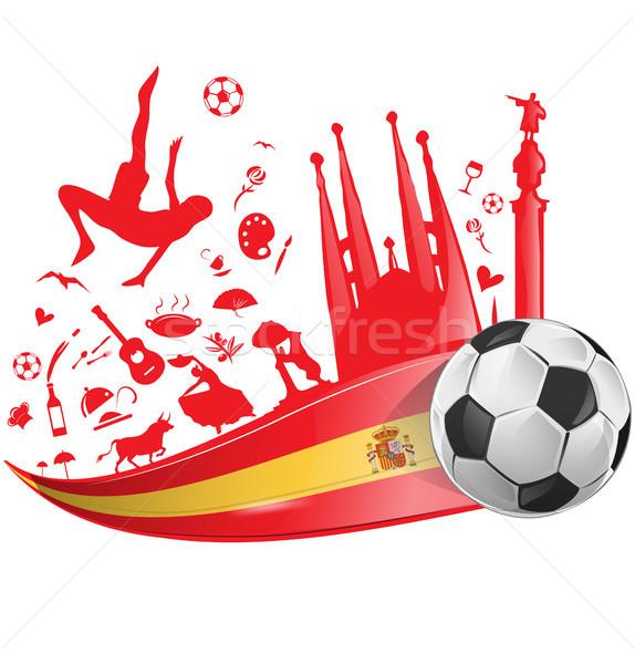 Bandeira futebol cidade dançar projeto fundo Foto stock © doomko