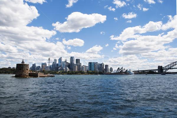 Sydney vuurtoren landschap brug Blauw Stockfoto © doomko