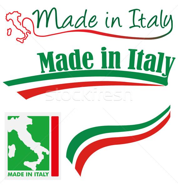 イタリア セット 抽象的な にログイン フラグ 赤 ストックフォト © doomko