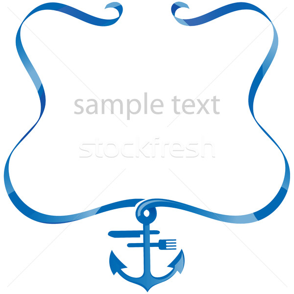 sea food background with ribbon  Stock photo © doomko