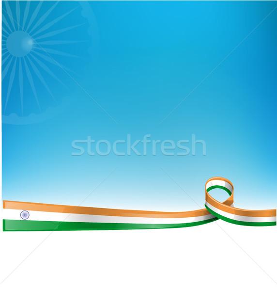 Indian lint vlag hemel voetbal abstract Stockfoto © doomko