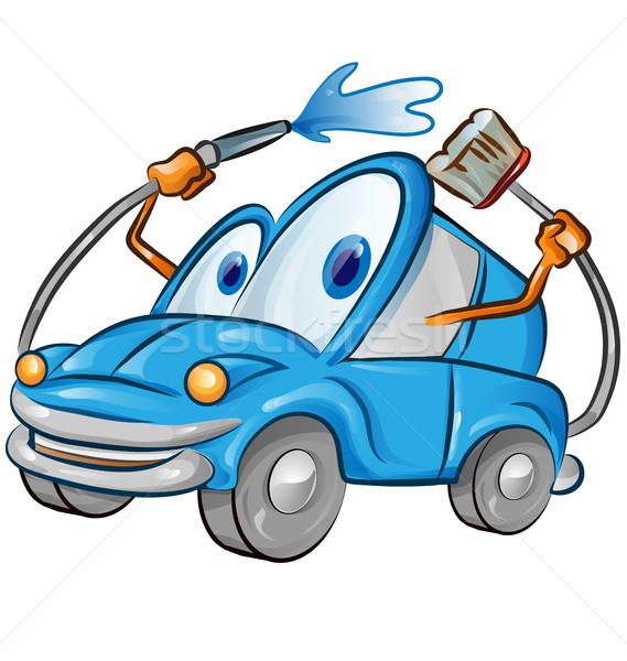 アルゼンチン リボン フラグ 車 顔 幸せ ストックフォト © doomko