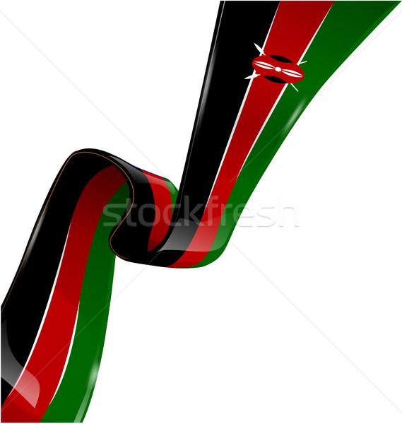 kenya ribbon flag on white background  Stock photo © doomko