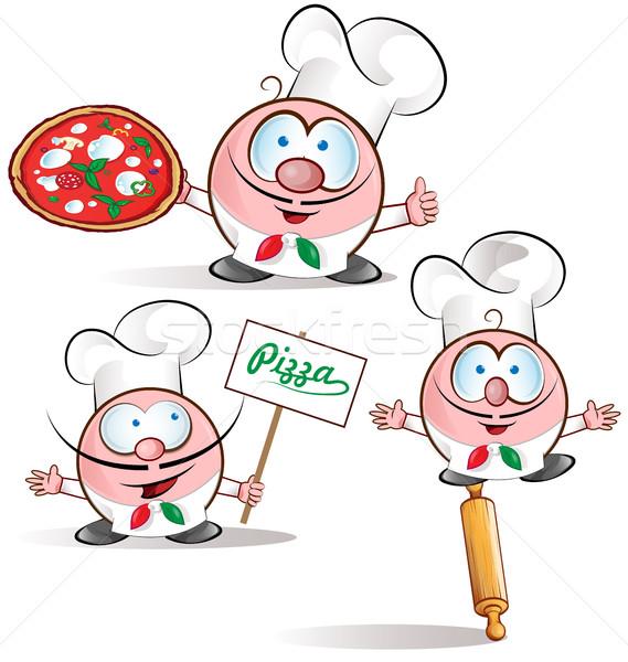 italian chef set  Stock photo © doomko