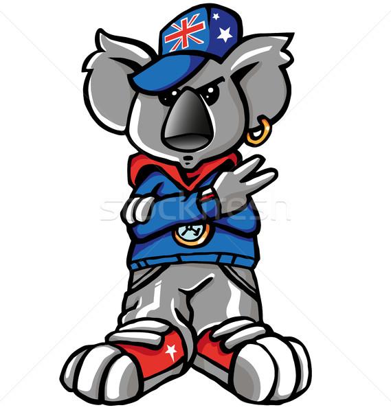 Koala рэп улице искусства весело игрушку Сток-фото © doomko