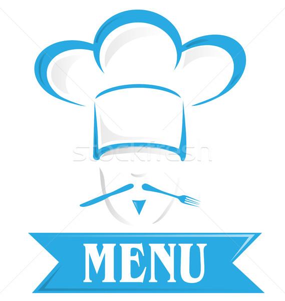 Menu symbool geïsoleerd witte ontwerp restaurant Stockfoto © doomko