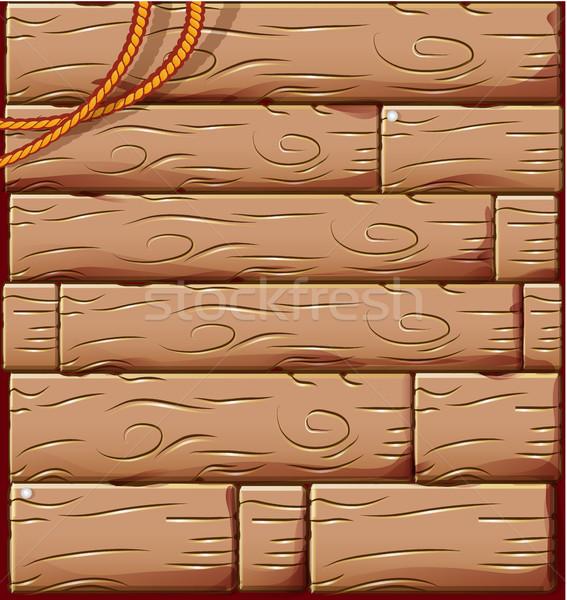 Ahşap kordon doku duvar soyut dizayn Stok fotoğraf © doomko