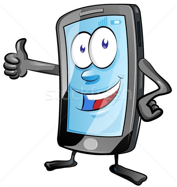 携帯電話 漫画 楽しい 電話 技術 ストックフォト © doomko