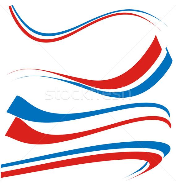 Frankrijk vlag ingesteld geïsoleerd witte voetbal Stockfoto © doomko