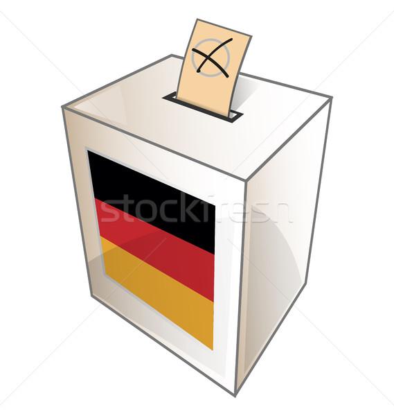 germany urn symbol on white background Stock photo © doomko