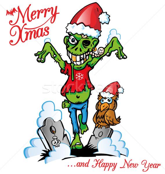 ゾンビ クリスマス 死 脳 面白い クリスマス ストックフォト © doomko