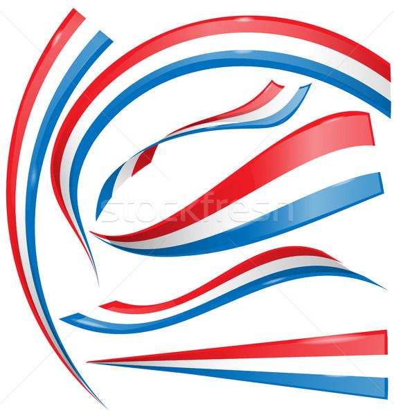 フランス フラグ セット 孤立した 白 サッカー ストックフォト © doomko