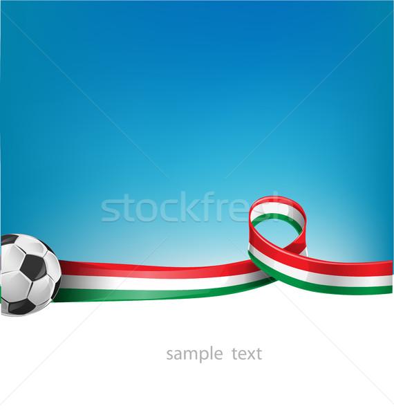 Italiaans Mexicaanse vlag ingesteld voetbal sport Stockfoto © doomko