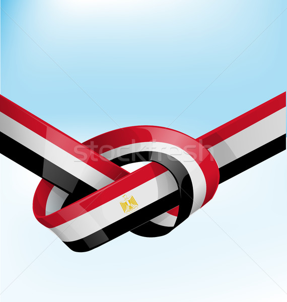 egypt ribbon flag on bue sky background Stock photo © doomko