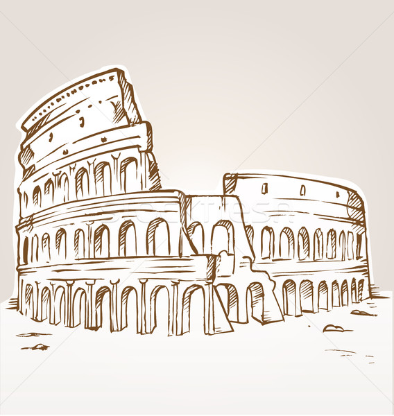 colosseum hand draw  Stock photo © doomko