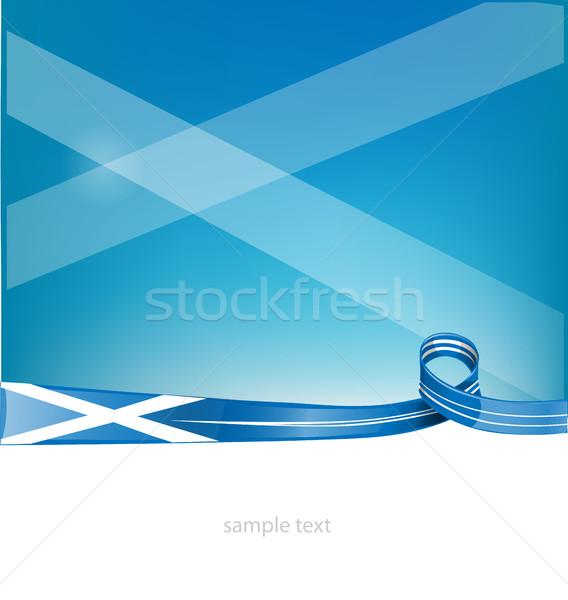 Шотландии лента флаг небе искусства команда Сток-фото © doomko