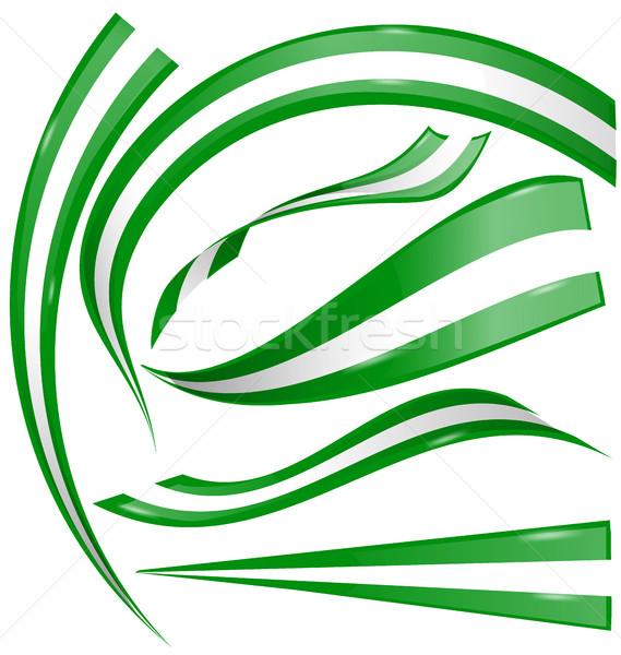 Zdjęcia stock: Nigeria · banderą · zestaw · biały · streszczenie · projektu