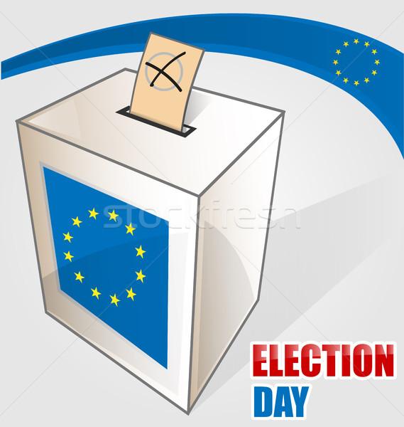 Avrupa seçim parti soyut arka plan bayrak Stok fotoğraf © doomko