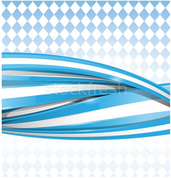 Fita bandeira azul cerveja abstrato arte Foto stock © doomko