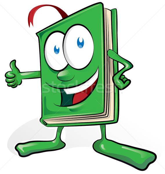 Kitap karikatür yalıtılmış beyaz kâğıt okul Stok fotoğraf © doomko