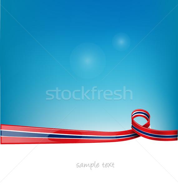 Tailandia cinta bandera cielo azul resumen arte Foto stock © doomko