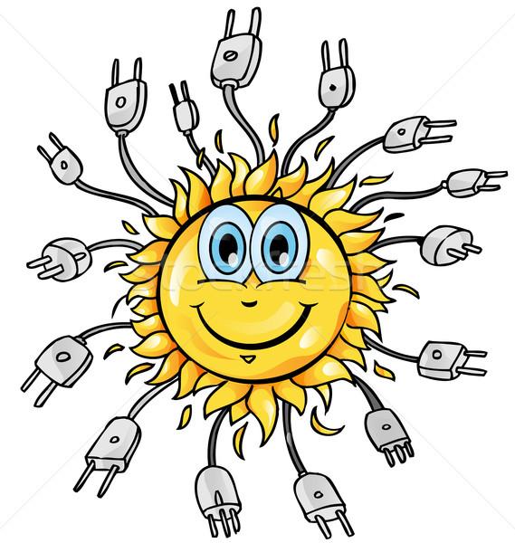 sun cartoon with plung Stock photo © doomko