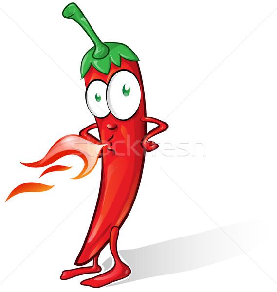 Mexicaanse chili cartoon geïsoleerd witte gelukkig Stockfoto © doomko