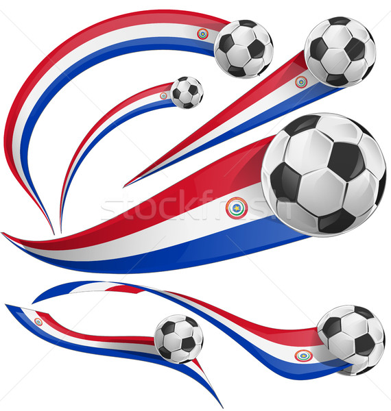 paraguay flag  with soccer ball Stock photo © doomko