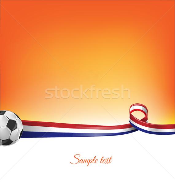 オランダ サッカーボール テクスチャ サッカー フレーム グループ ストックフォト © doomko