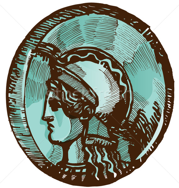 ギリシャ語 古い コイン 孤立した 白 お金 ストックフォト © doomko