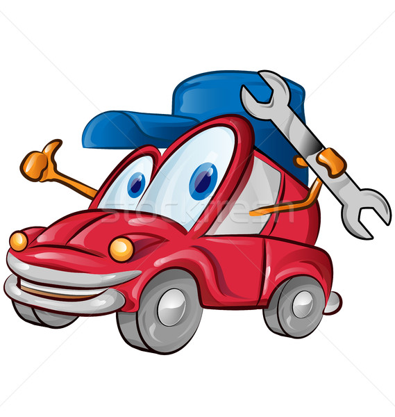 Auto garage symbool cartoon witte business Stockfoto © doomko