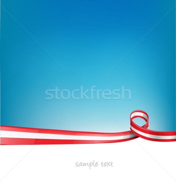 Avusturya bayrak şerit soyut sanat takım Stok fotoğraf © doomko