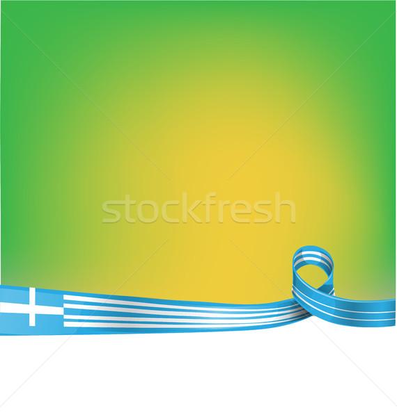 greek ribbon flag background Stock photo © doomko