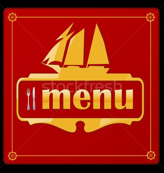 Velejar navio menu negócio projeto quadro Foto stock © doomko