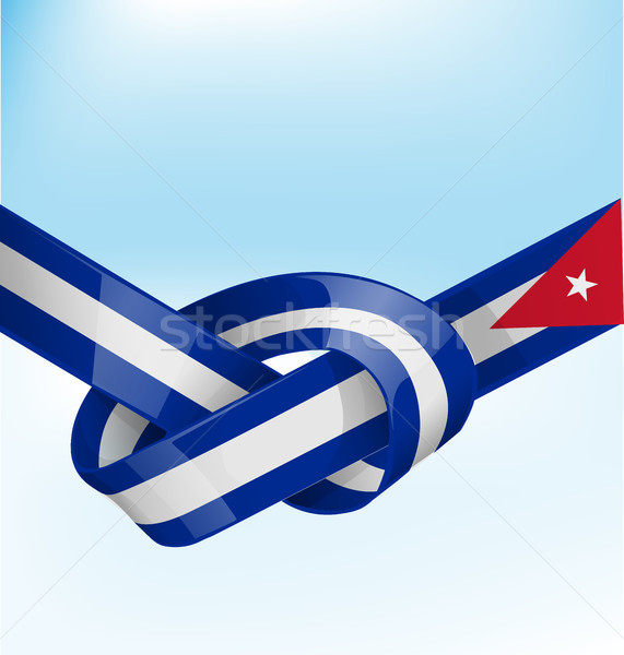 cuba ribbon flag on bue sky background Stock photo © doomko