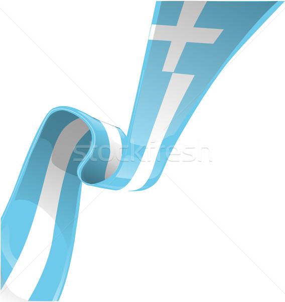 greek ribbon flag isolate on white Stock photo © doomko