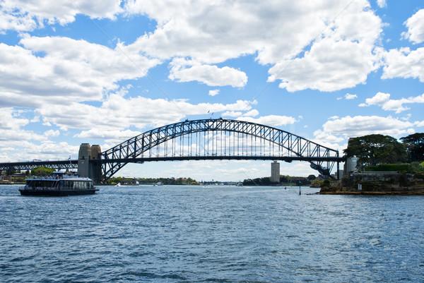 Sydney Australia Harbour Bridge Full Side view Panoramic Stock photo © doomko