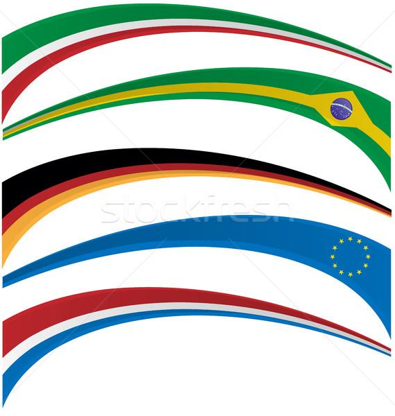 Bandeira conjunto branco abstrato fundo arte Foto stock © doomko