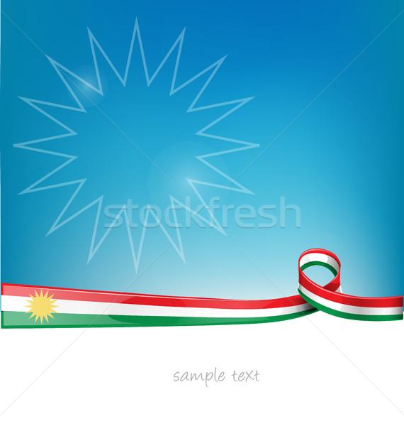 Kurdistan lag on background Stock photo © doomko