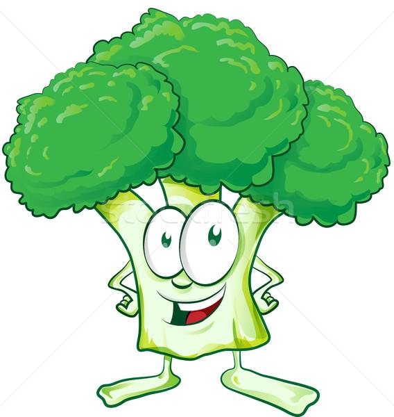 diversão brócolis desenho animado branco sorrir projeto