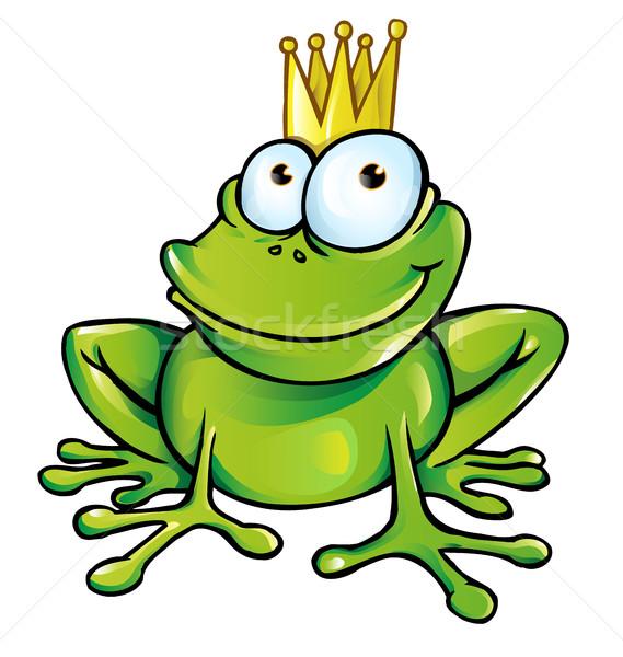 frog cartoon isolated on white Stock photo © doomko