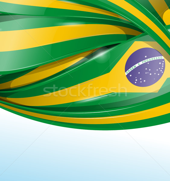 Бразилия флаг набор фон искусства подарок Сток-фото © doomko