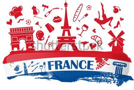 フランス フラグ シンボル サッカー スポーツ 世界 ストックフォト © doomko
