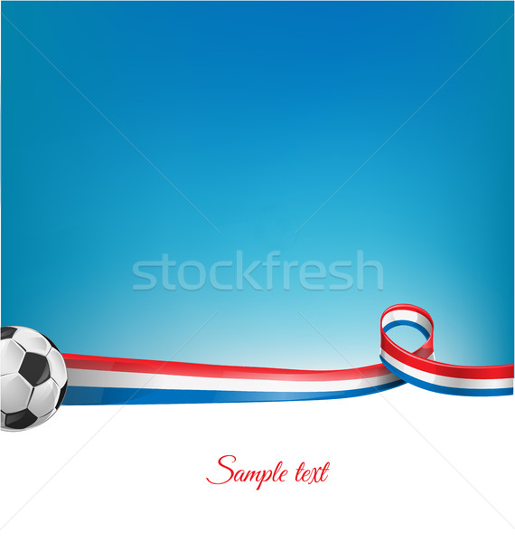 france background with soccer ball Stock photo © doomko