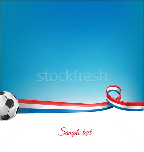 Fransa futbol topu doku futbol çerçeve grup Stok fotoğraf © doomko