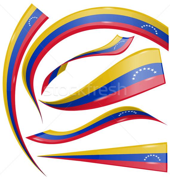 venezuela flag set on white background Stock photo © doomko