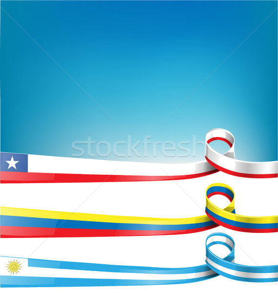 Zászló szalag üzlet újság kártya fehér Stock fotó © doomko