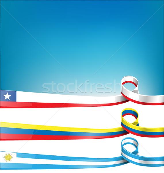 Vlag lint business krant kaart witte Stockfoto © doomko