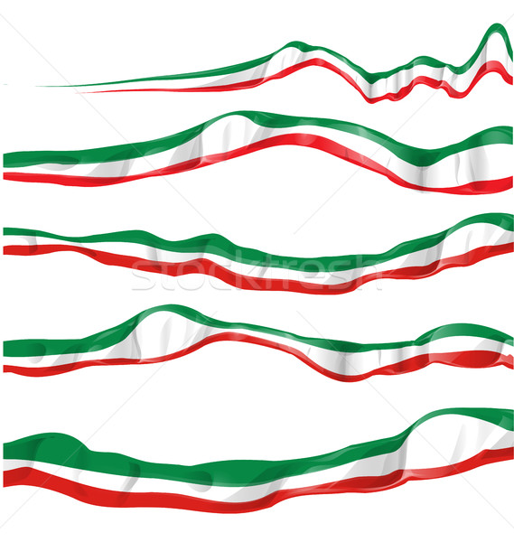 イタリア国旗 セット 孤立した 抽象的な にログイン フラグ ストックフォト © doomko